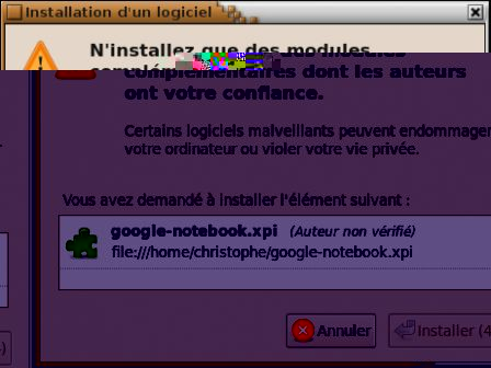 Installation de Google Bloc-notes